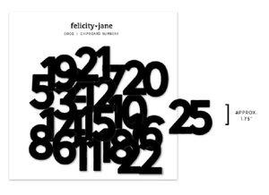 Chipboard Bits Numbers Coco de Felicity Jane