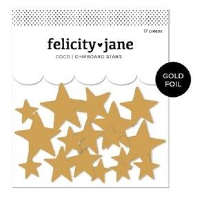 Estrellas de chipboard con foil Coco de Felicity Jane