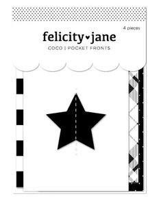 Bolsillos adhesivos con adornos 4 pcs Coco de Felicity Jane