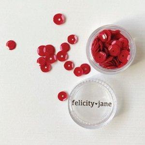 Bote con lentejuelas rojas Coco de Felicity Jane