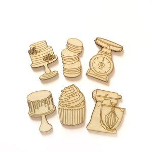 Siluetas de madera Fridita Sweet Bakery