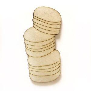 Silueta de madera Fridita Sweet Bakery Macarons