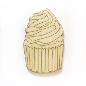 Silueta de madera Fridita Sweet Bakery Cupcake