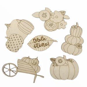 Siluetas de madera Fridita Autumn Pumpkins