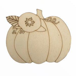 Silueta de madera Fridita Autumn Pumpkins Calabaza