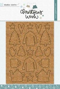 Figuras de corcho Christmas Wish de Gigi et moi