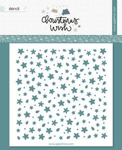 """Máscara 6""""x6"""" Poinsettias Christmas Wish de Gigi et moi"""