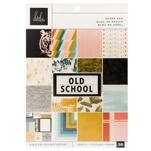 """Pad 6x8"""" Old School de Heidi Swapp"""