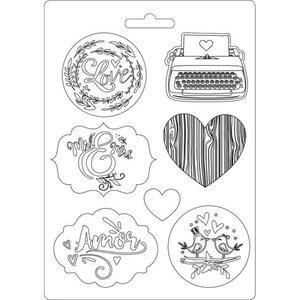 Molde flexible Amor Col. Love Story de Johanna Rivero