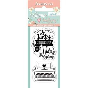 Sellos Col. Love Story de Johanna Rivero Typewriter