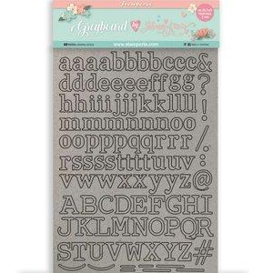 Hoja A4 de chipboard Circle of Love de Johanna Rivero Alphabet