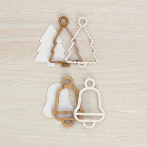 Kit mini Shakers para colgar Kimidori Colors Árbol y campana