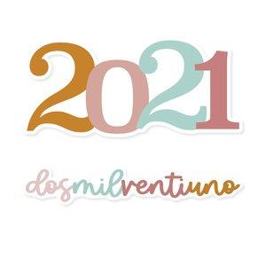 Título de metacrilato Scrap Your Life 2021 multicolor