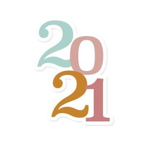 Título de metacrilato Scrap Your Life 2021 pequeño multicolor