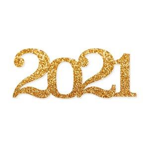 Título de metacrilato Scrap Your Life 2021 grande glitter dorado