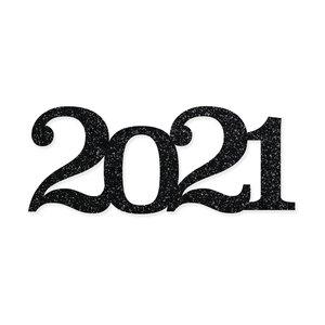 Título de metacrilato Scrap Your Life 2021 grande glitter negro