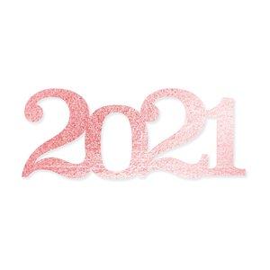 Título de metacrilato Scrap Your Life 2021 grande espejo oro rosado