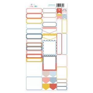 Hoja de labels para recortar Kimidori Colors Scrap your life Marzo