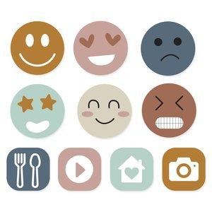 Set de metacrilatos autoadhesivos Scrap Your Life Emoticonos