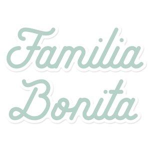 Título de metacrilato impreso Scrap your life Familia Bonita