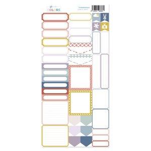 Hoja de labels para recortar Kimidori Colors Scrap Your Life Abril