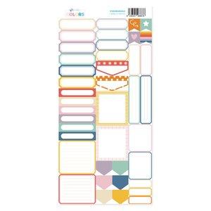 Hoja de labels para recortar Kimidori Colors Scrap Your Life Mayo