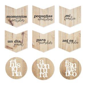 Set de maderas impresas Así es mi vida