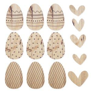 Set de maderas Grabadas Huevos de pascua