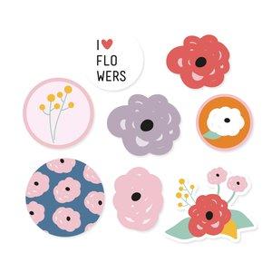 Set de metacrilatos autoadhesivos Flores Mayo