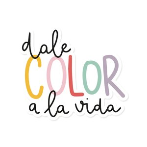 Título de metacrilato impreso Dale color a la vida