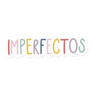 Título de metacrilato impreso Imperfectos