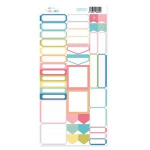 Hoja de labels para recortar Kimidori Colors Scrap Your Life Julio