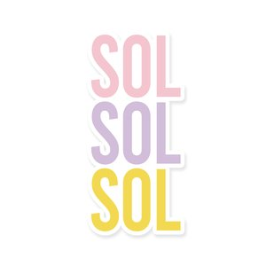 Título de metacrilato impreso Scrap Your Life Junio Sol Sol Sol