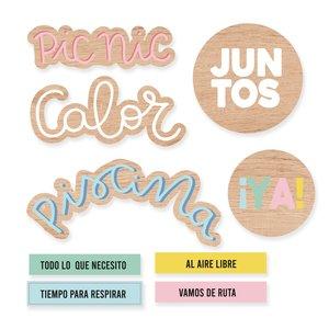 Set de maderitas Scrap Your Life Junio Piscina