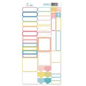 Hoja de labels para recortar Kimidori Colors Scrap Your Life Agosto