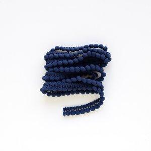 Cinta de pompones Azul marino