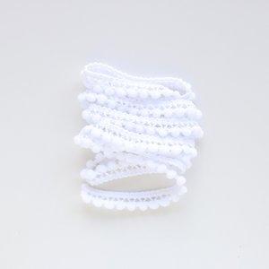 Cinta de pompones Blanco
