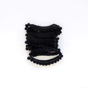 Cinta de pompones Negro