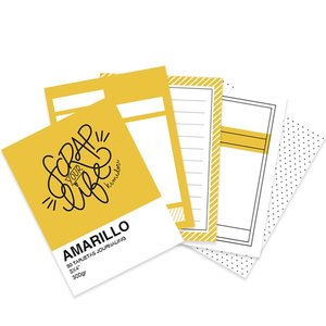 "Mini bloc tarjetas Journaling básicas 3""x4"" Scrap Your Life Amarillo"
