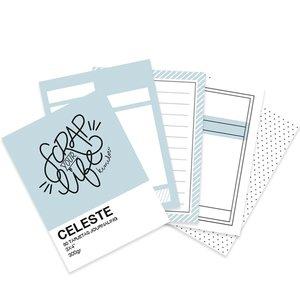 """Mini bloc tarjetas Journaling básicas 3""""x4"""" Scrap Your Life Beige"""