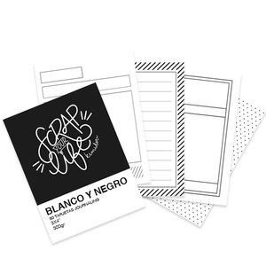 "Mini bloc tarjetas Journaling básicas 3""x4"" Scrap Your Life ByN"