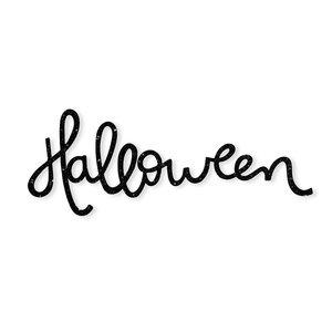 Metacrilato troquelado Halloween Negro purpurina