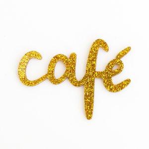 Título de metacrilato Kimidori Colors Café Glitter