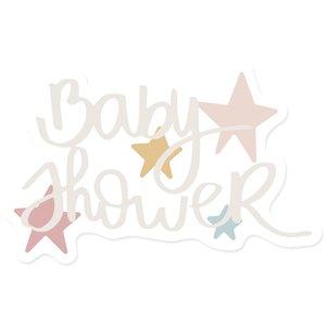 Título de metacrilato Baby Shower
