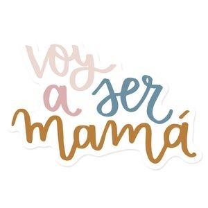 Título de metacrilato Voy a ser mamá