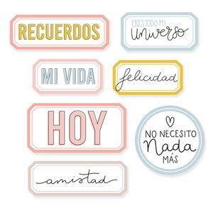 Set Metacrilatos autoadhesivos My Story Labels con frases