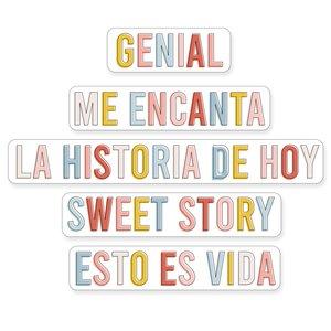 Set Metacrilatos My Story Frases de colores