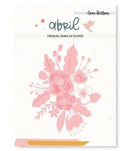 Troquel Lora Bailora Abril Ramo de flores