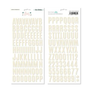 Alfabeto chipboard con foil SUR