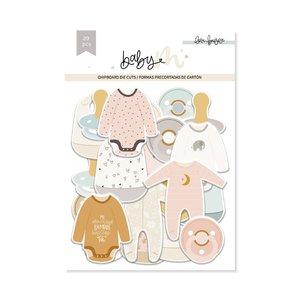 Die cuts de chipboard Ilustraciones Baby M de Lora Bailora